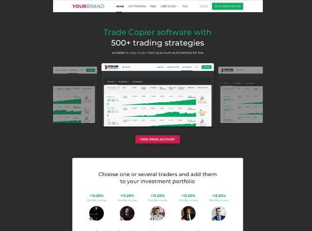 Copy Trading Marketing Website For Introducing Brokers